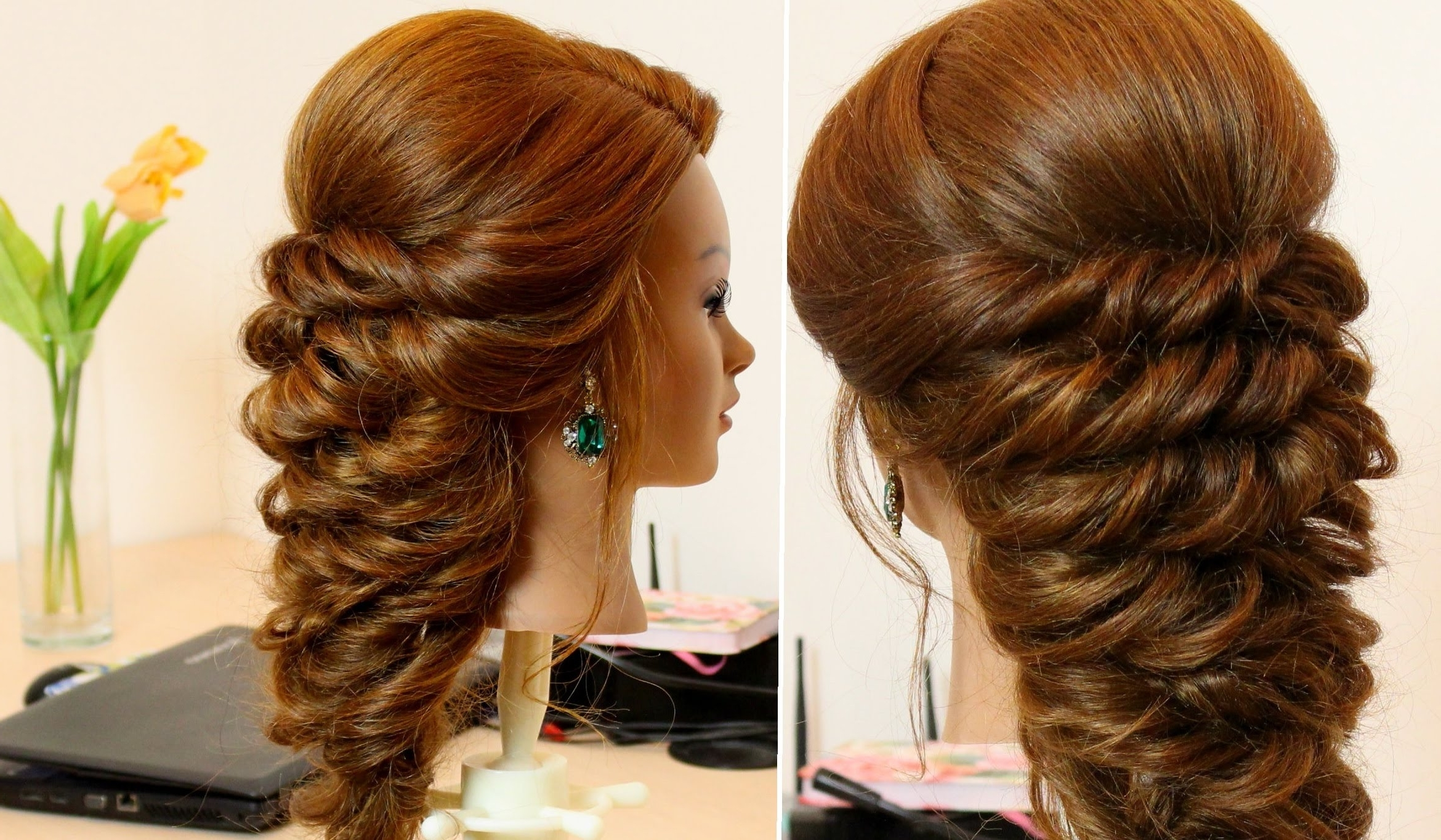 Easy Hairstyle For Long Hair Tutorial – Youtube Pertaining To Updos For Long Hair (View 7 of 15)