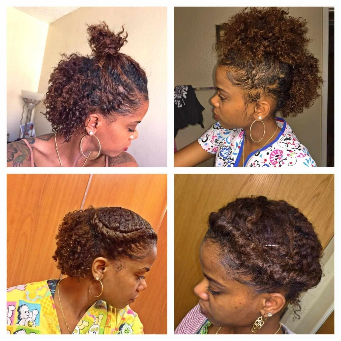 Easy Hairstyles For Medium Length Natural Hair In Natural Hair Updos For Medium Hair (View 4 of 15)