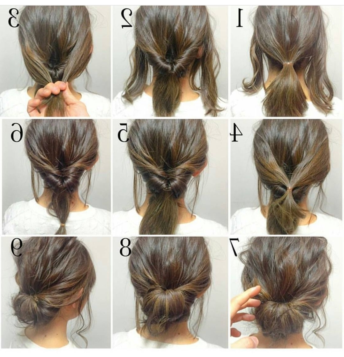 Easy, Hope This Works Out Quick Morning Hair! | • H A I R With Regard To Easy Bun Updo Hairstyles For Medium Hair (View 12 of 15)