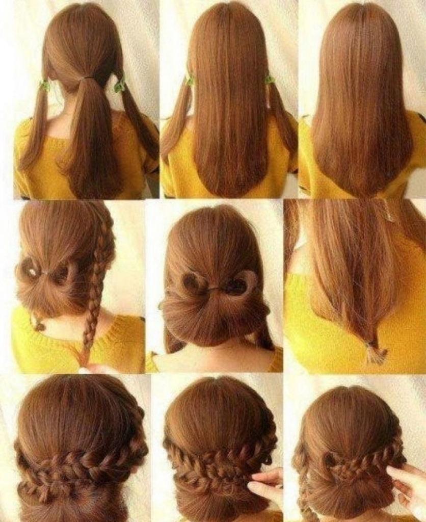 Easy Long Hairstyles Updos 5 Minute Romantic Bun Hairstyle Easy Updo With Easy Long Updo Hairstyles (View 9 of 15)