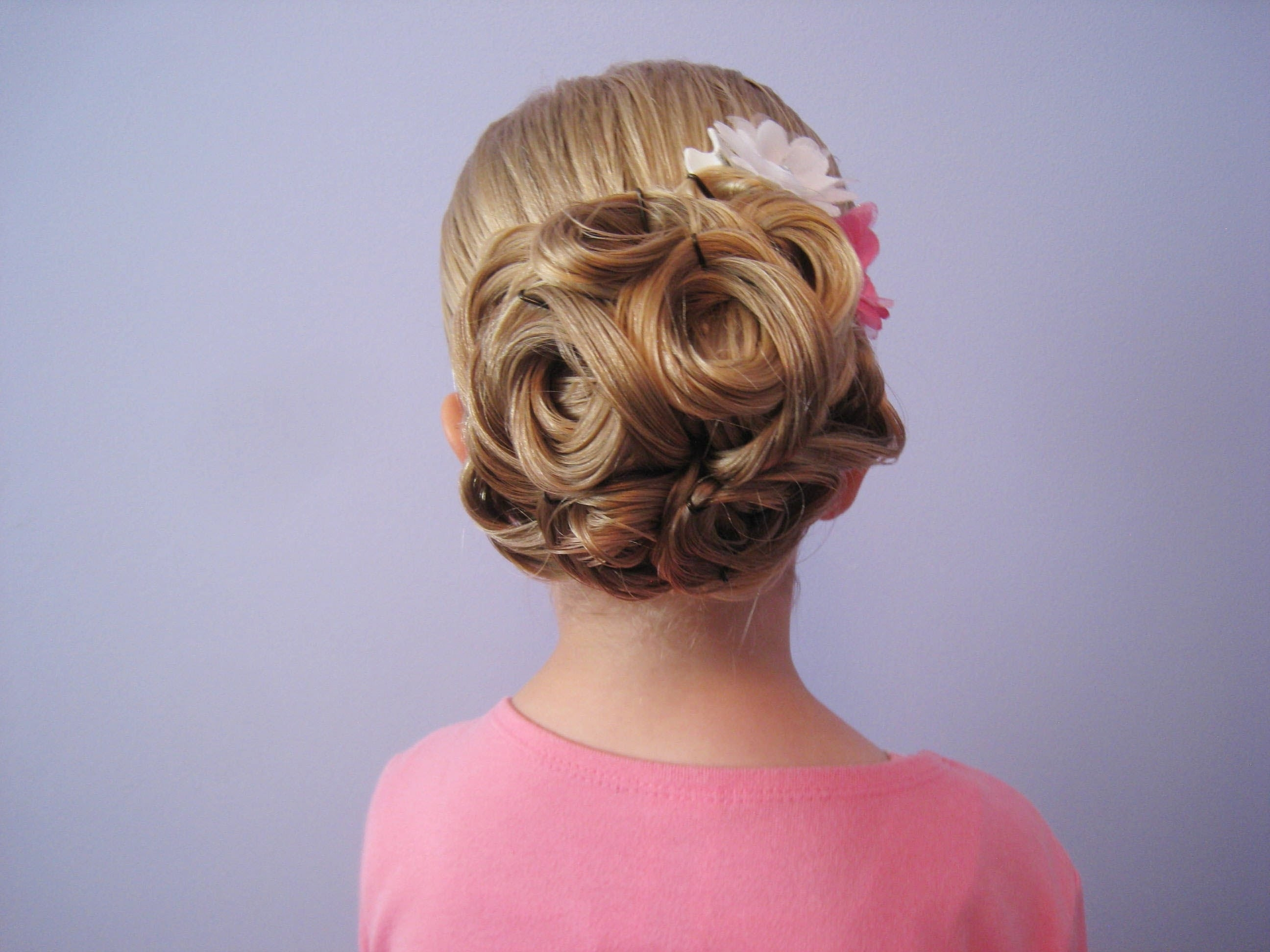 Easy Looped Updo | Bridal, Prom, Flower Girl Hairstyle – Youtube For Little Girl Updo Hairstyles (View 4 of 15)