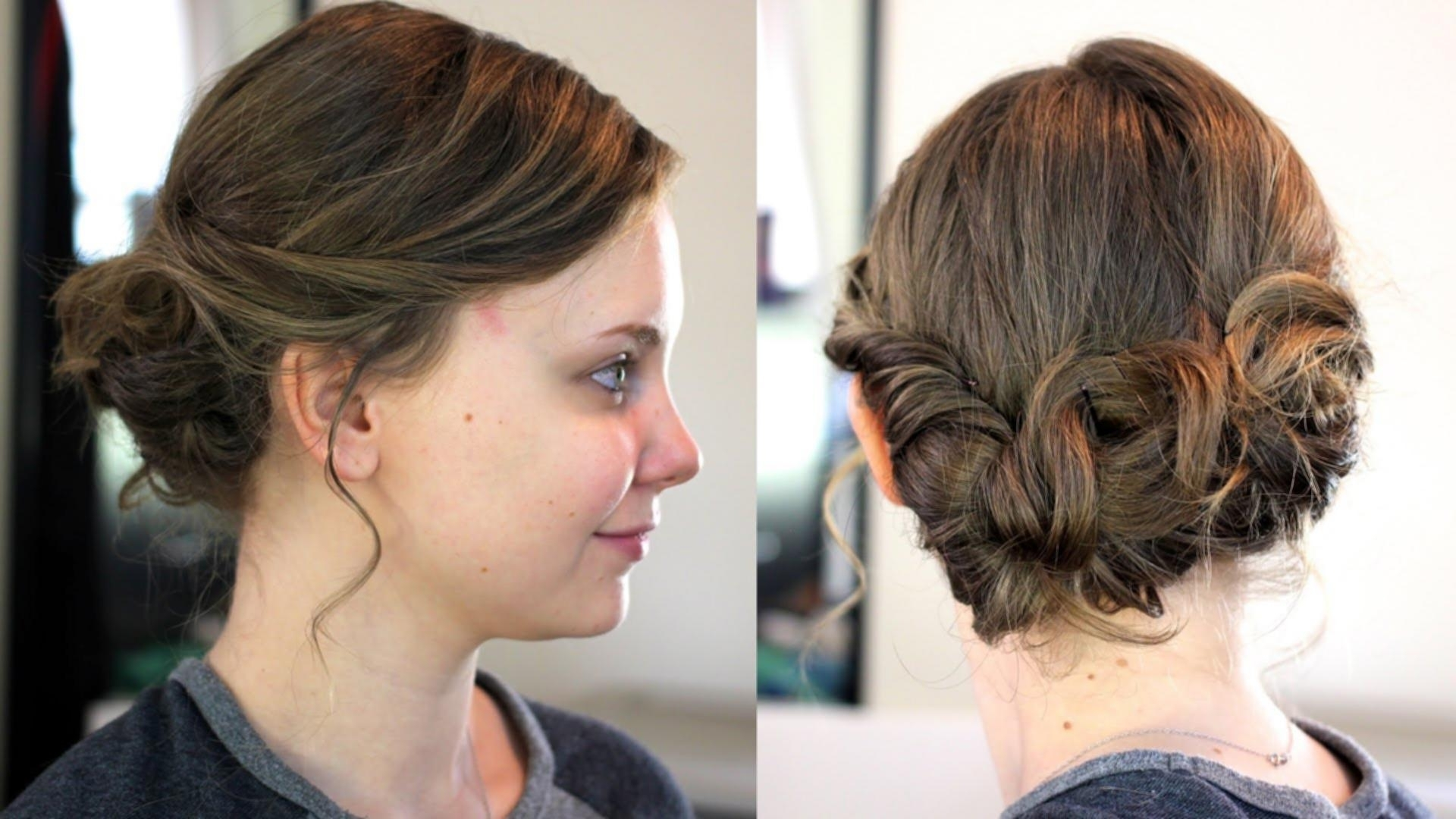 Easy Mid Length Hairstyles Updo Hairstyles For Medium Length Hair Intended For Updo Medium Hairstyles (View 9 of 15)