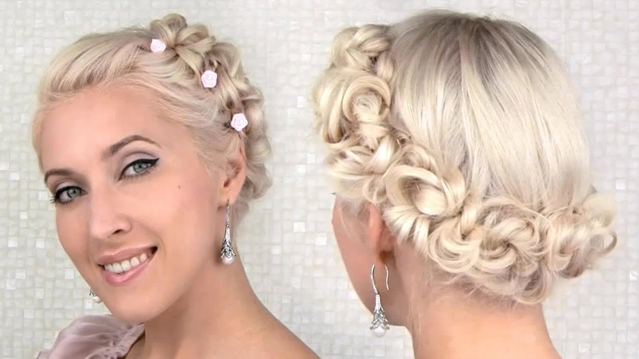 Easy Prom/wedding Updo Hairstyle For Medium Long Hair Tutorial – Youtube With Updo Hairstyles For Short Hair Prom (Gallery 14 of 15)