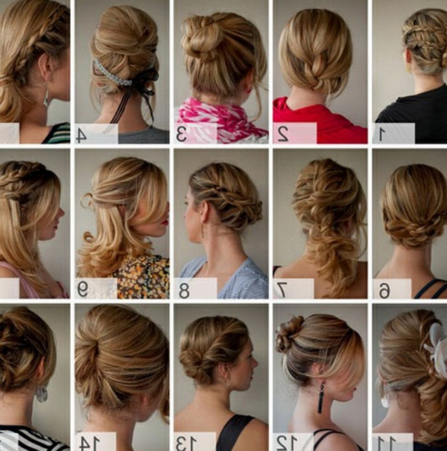 Easy Quick Hairstyle For Long Thick Hair Cute Easy Updos For Long Regarding Quick Easy Updos For Long Thick Hair (View 14 of 15)