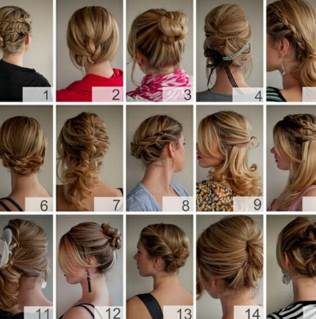 Easy Quick Hairstyles Long Hair Hairstyles Cute And Easy Hairstyles Intended For Cute Updos For Long Hair (Gallery 5 of 15)