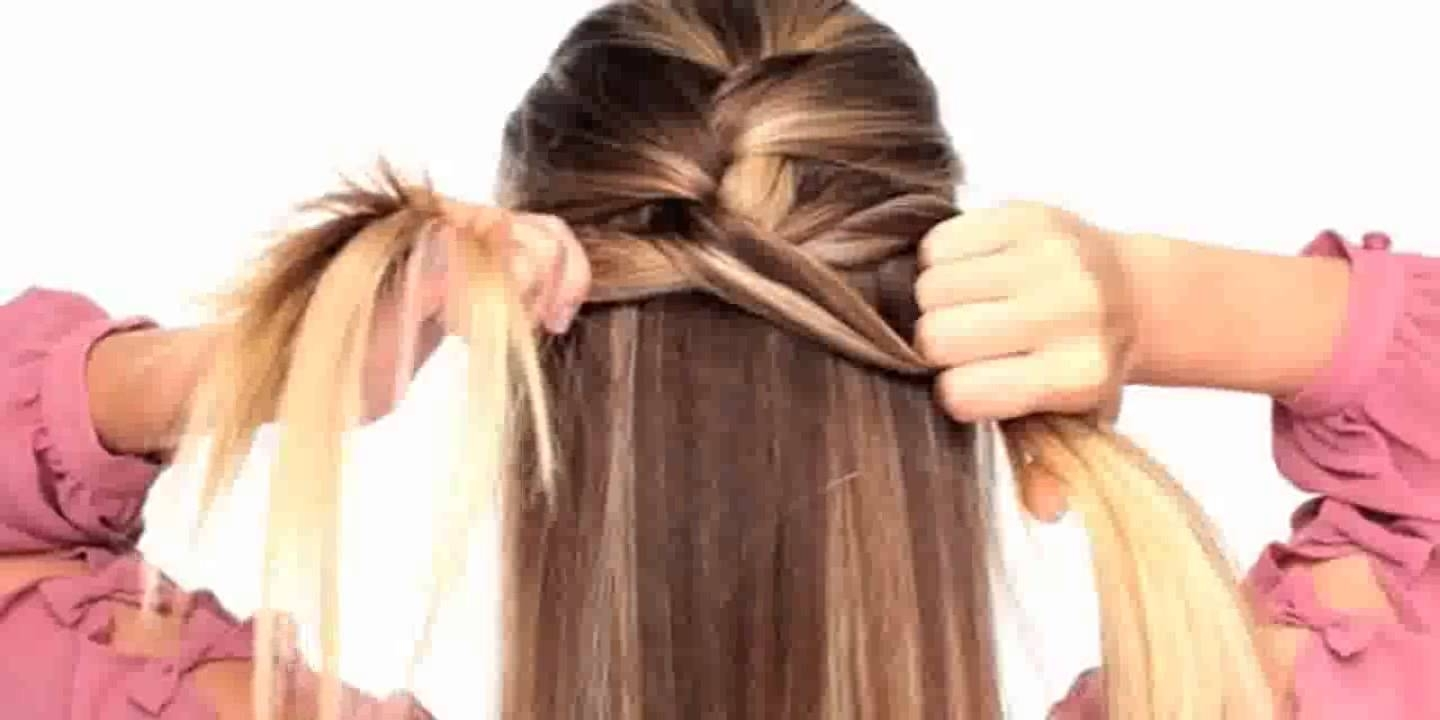 Easy To Do Hairstyles On Yourself – Youtube With Easy At Home Updos For Long Hair (View 7 of 15)