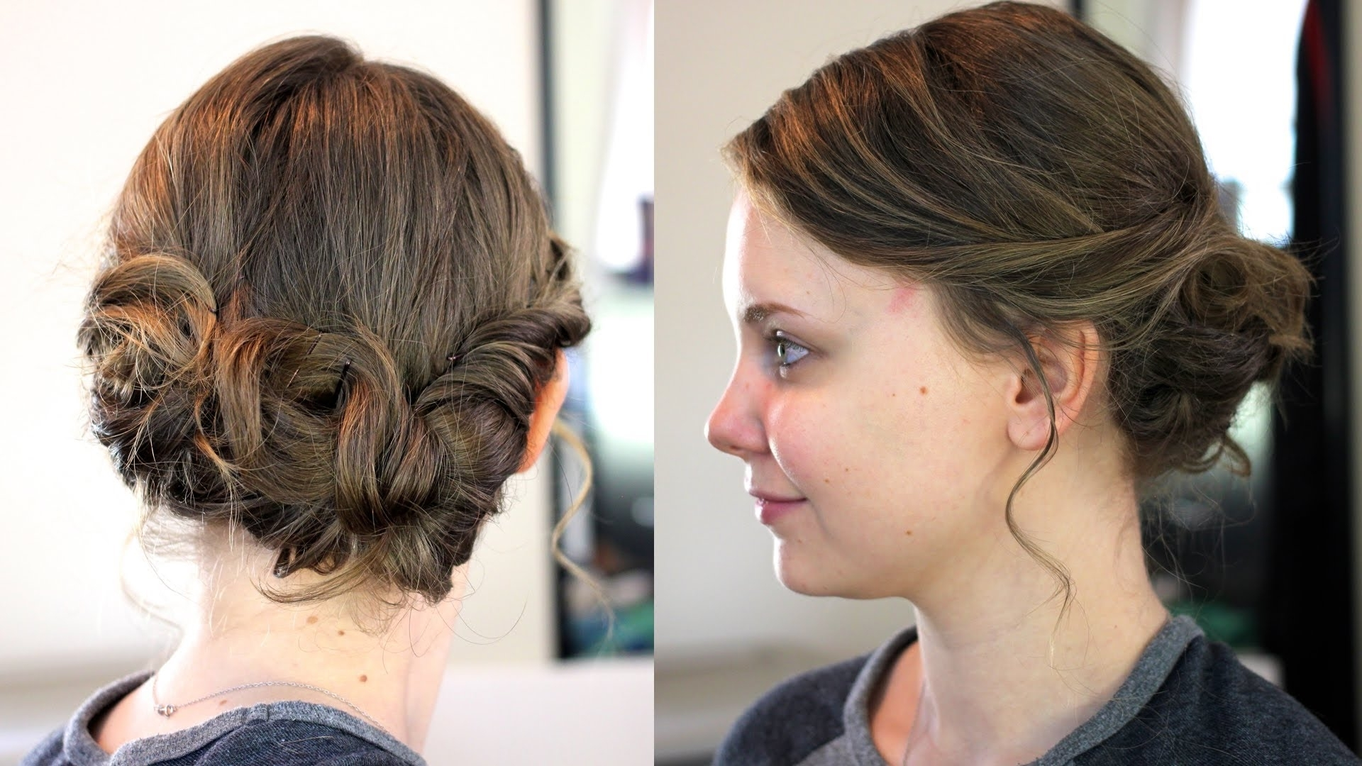 Easy Updo For Medium/shoulder Length Hair – Youtube With Cool Updos For Medium Length Hair (Gallery 13 of 15)