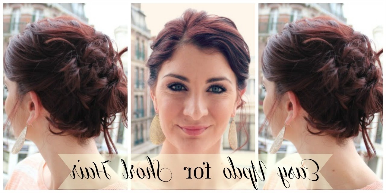 Easy Updo For Short Hair – Youtube Inside Easy Updos For Very Short Hair (View 7 of 15)