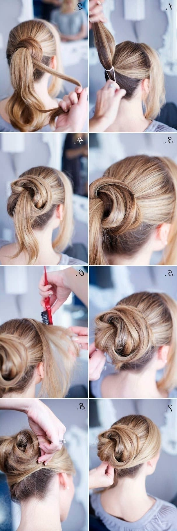 Easy Updo Hairstyle For Thin Hair 12 Trendy Low Bun Updo Hairstyles With Regard To Easy Updo Hairstyles For Thin Hair (View 14 of 15)