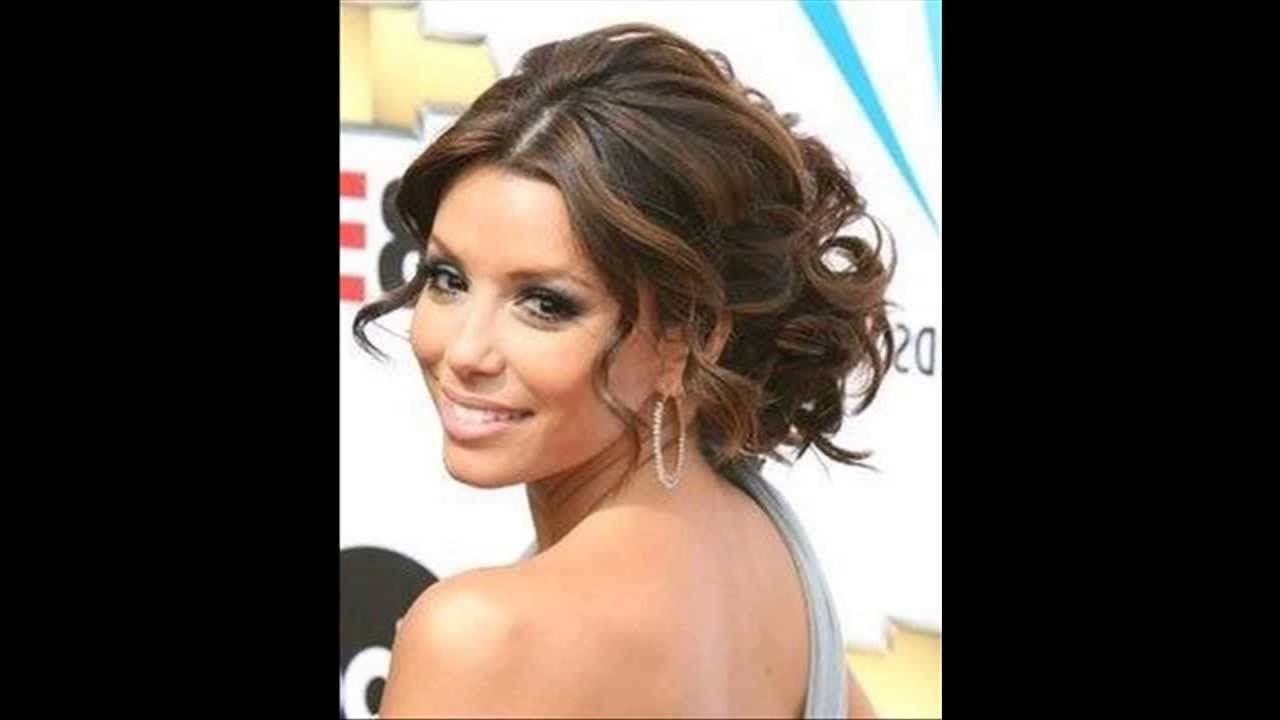 Easy Updo Hairstyles For Medium Length Curly Hair Cute Curly Regarding Updo Hairstyles For Medium Curly Hair (View 7 of 15)