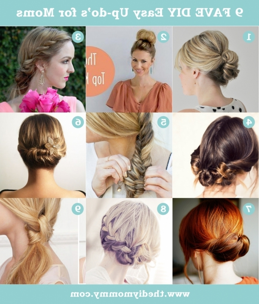 Easy Updo Hairstyles For Medium Length Hair Easy Do It Yourself Inside Easy Updo Hairstyles For Medium Length Hair (View 7 of 15)