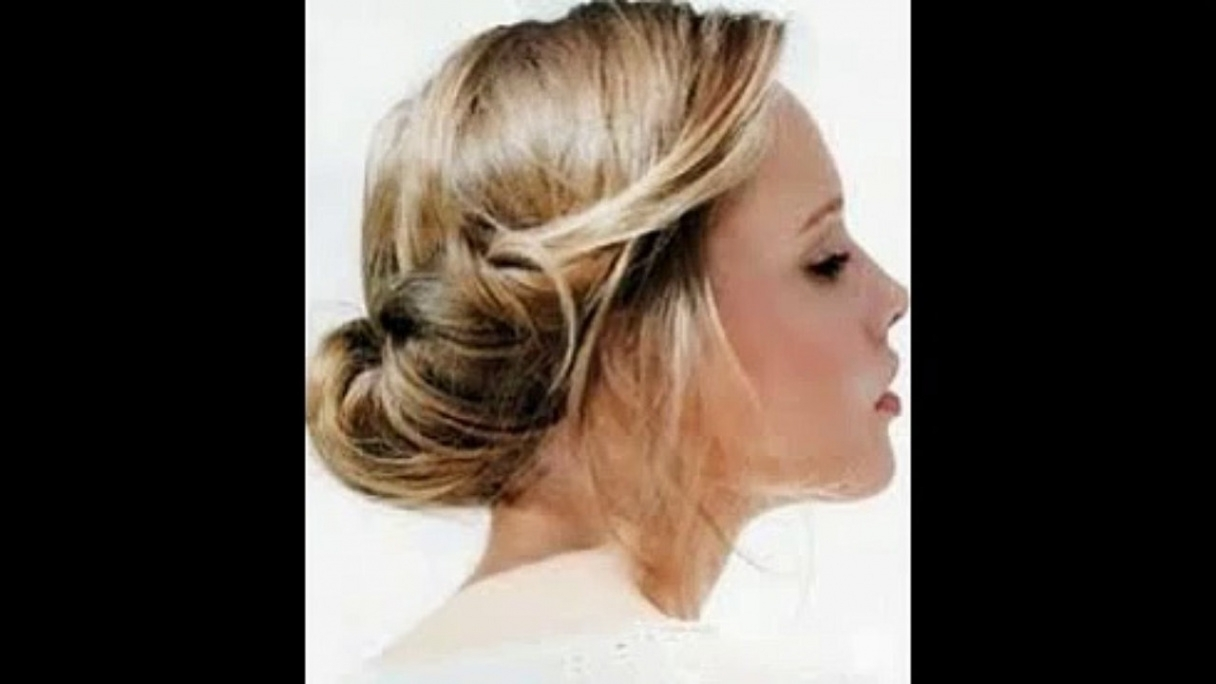 Easy Updo Hairstyles For Medium Length Hair – Video Dailymotion Throughout Medium Long Hair Updo Hairstyles (Gallery 5 of 15)