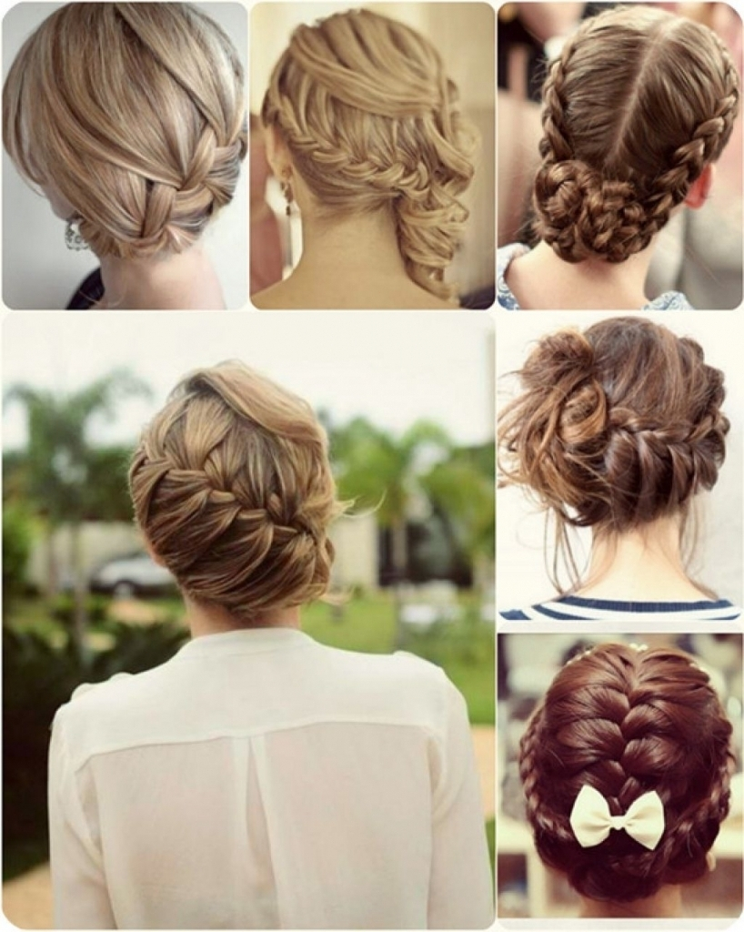 Easy Updo Hairstyles For Work Simple Updo Hairstyles For Prom Within Cute Updo Hairstyles For Medium Hair (Gallery 12 of 15)