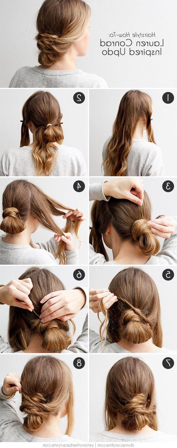 Easy Updo Inspiredlauren Conrad | More Within Easy Updo Hairstyles (Gallery 9 of 15)