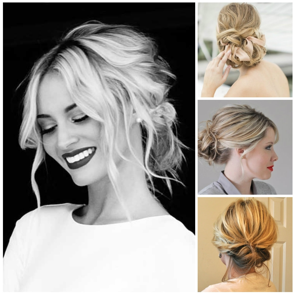Easy Updo Medium Hair – Hairstyle For Women & Man Throughout Updo Hairstyles With Bangs For Medium Length Hair (Gallery 1 of 15)