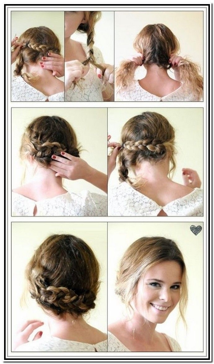 Easy Updos For Short Hair Tutorial | Hairstyles | Pinterest | Updos Intended For Easy Braided Updo Hairstyles (View 15 of 15)