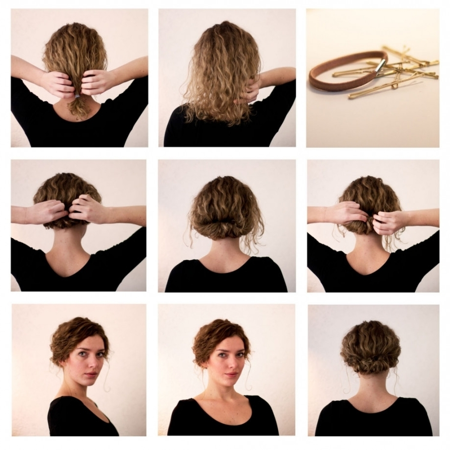 Easy Updos For Short Hair Tutorials Inside Super Easy Updos For Short Hair (Gallery 5 of 15)