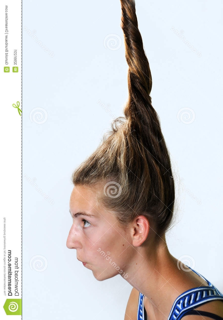 Eccentric Hairstyle Stock Image (View 9 of 15)