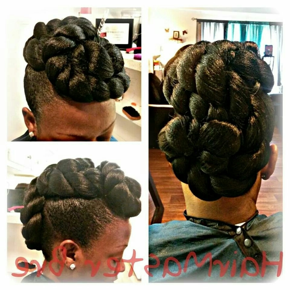 Elegant Jumbo Twist Mohawk | Versatility Of Hair | Pinterest Throughout Jumbo Twist Updo Hairstyles (View 6 of 15)