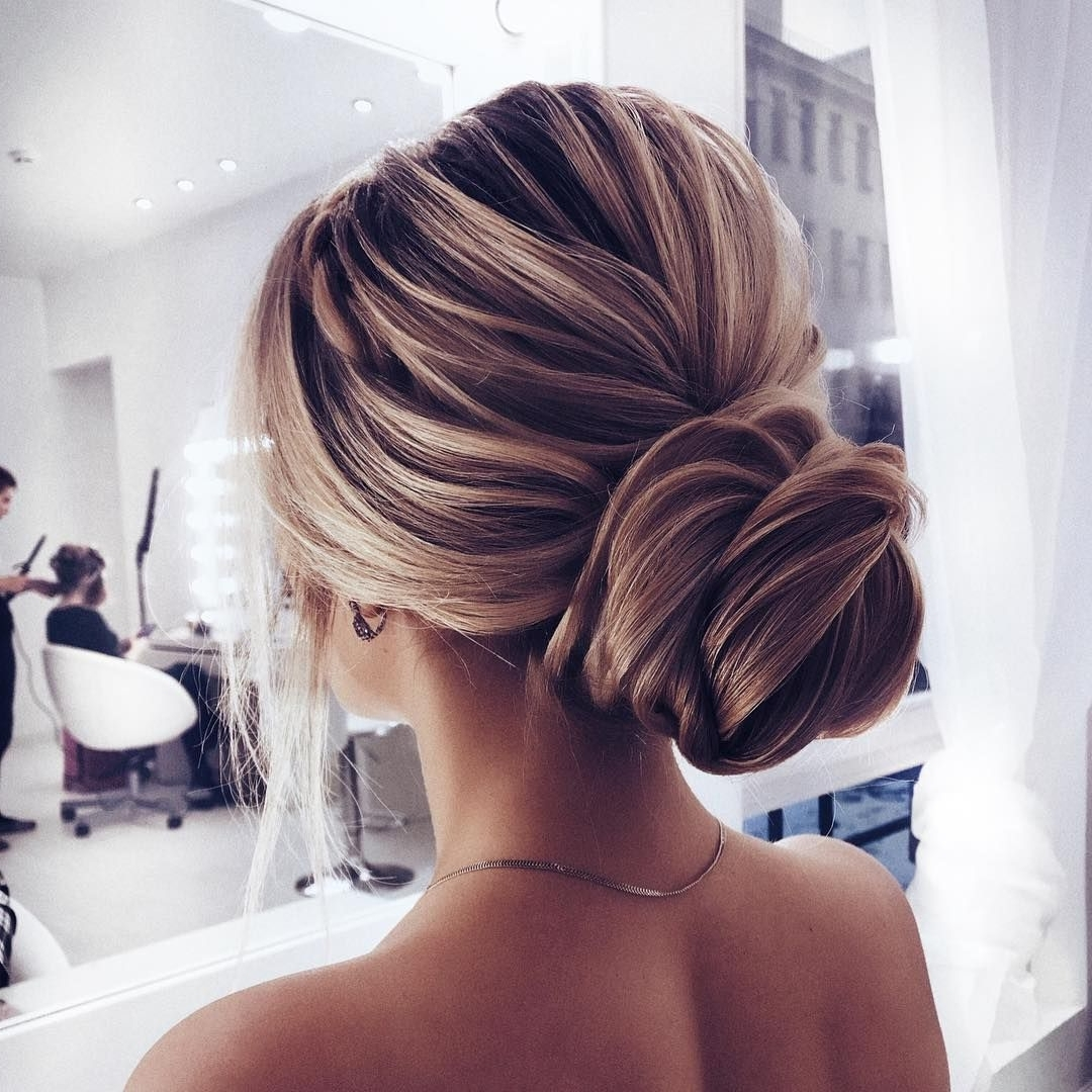 Elegant Updo Wedding Hairstyle ,chignon Hairstyle #promhairstyle With Chignon Updo Hairstyles (View 12 of 15)