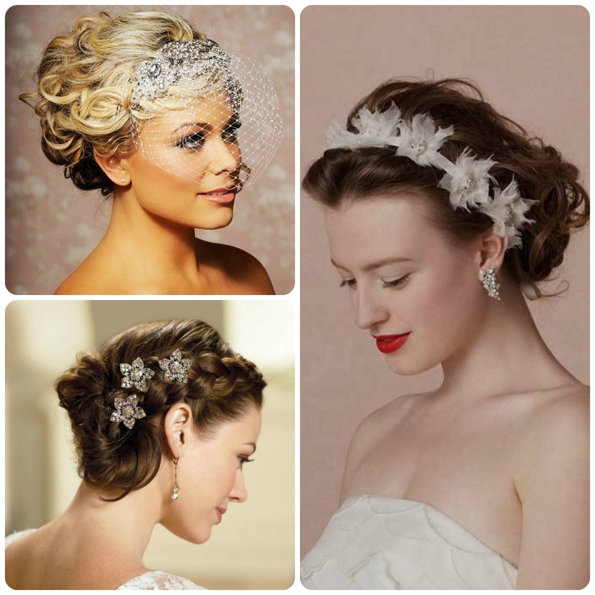 Elegant Updo Wedding Hairstyles Spring 2015 | Hairstyles 2017, Hair Intended For Wedding Hair Updo Hairstyles (View 7 of 15)