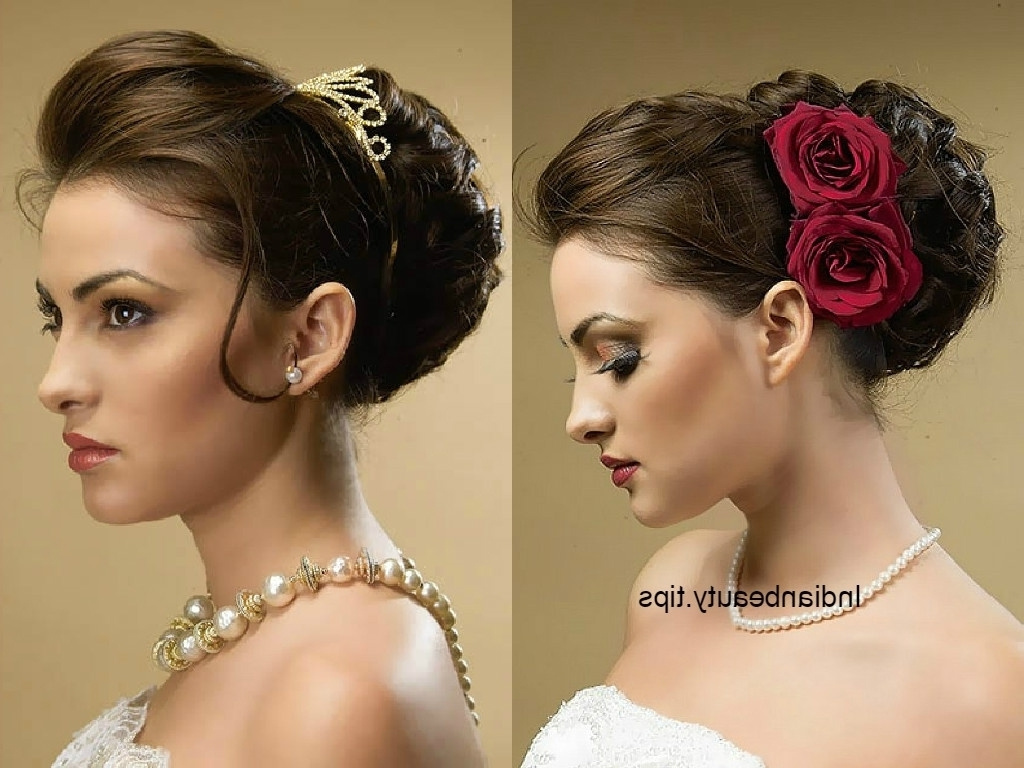 Elegant Wedding Updo Hairstyles 30 Elegant Bridal Updo Hairstyles Inside Indian Updo Hairstyles (View 9 of 15)