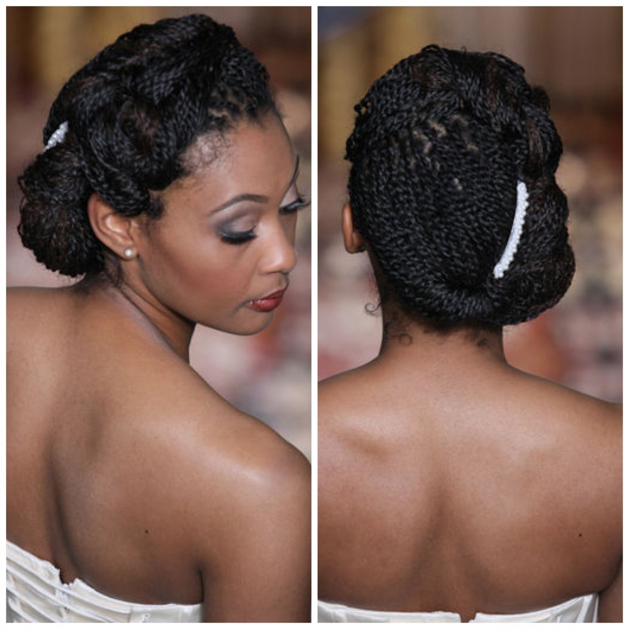Photo Gallery Of Updo Hairstyles For Black Hair Weddings Viewing 11