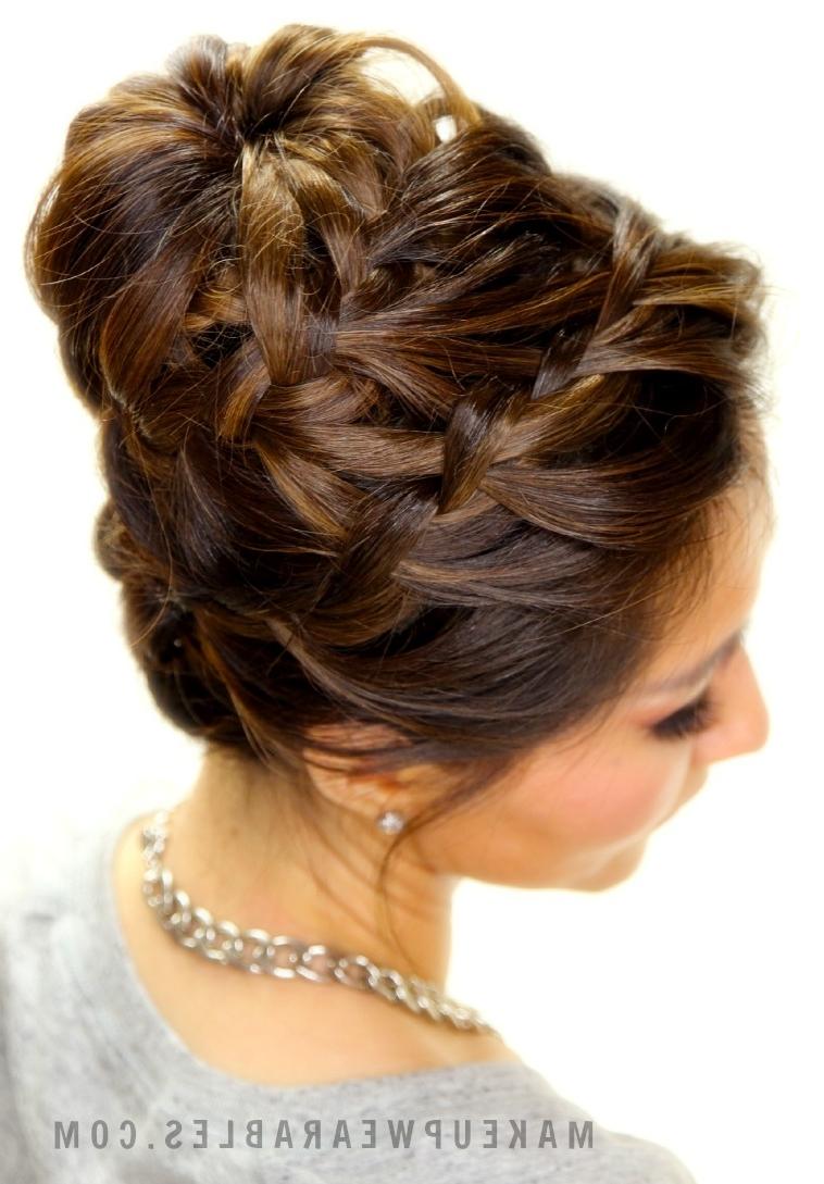Epic Braid Bun Tutorial | Hairstyles For Long Medium Hair Intended For Braid Updo Hairstyles For Long Hair (View 4 of 15)