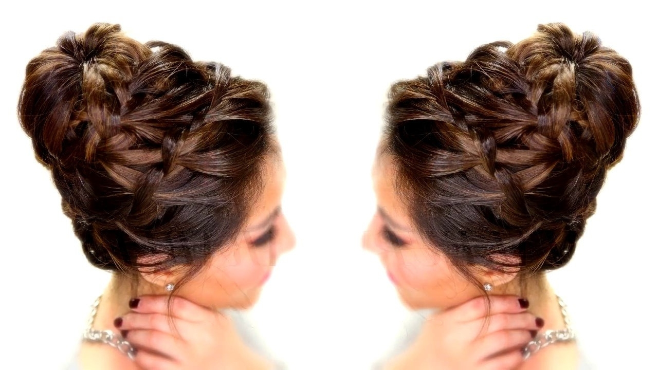 15 Photo Of Braided Bun Updo Hairstyles
