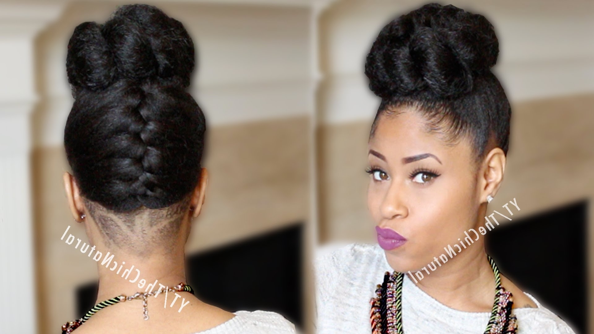 15 Ideas Of Black Braided Bun Updo Hairstyles