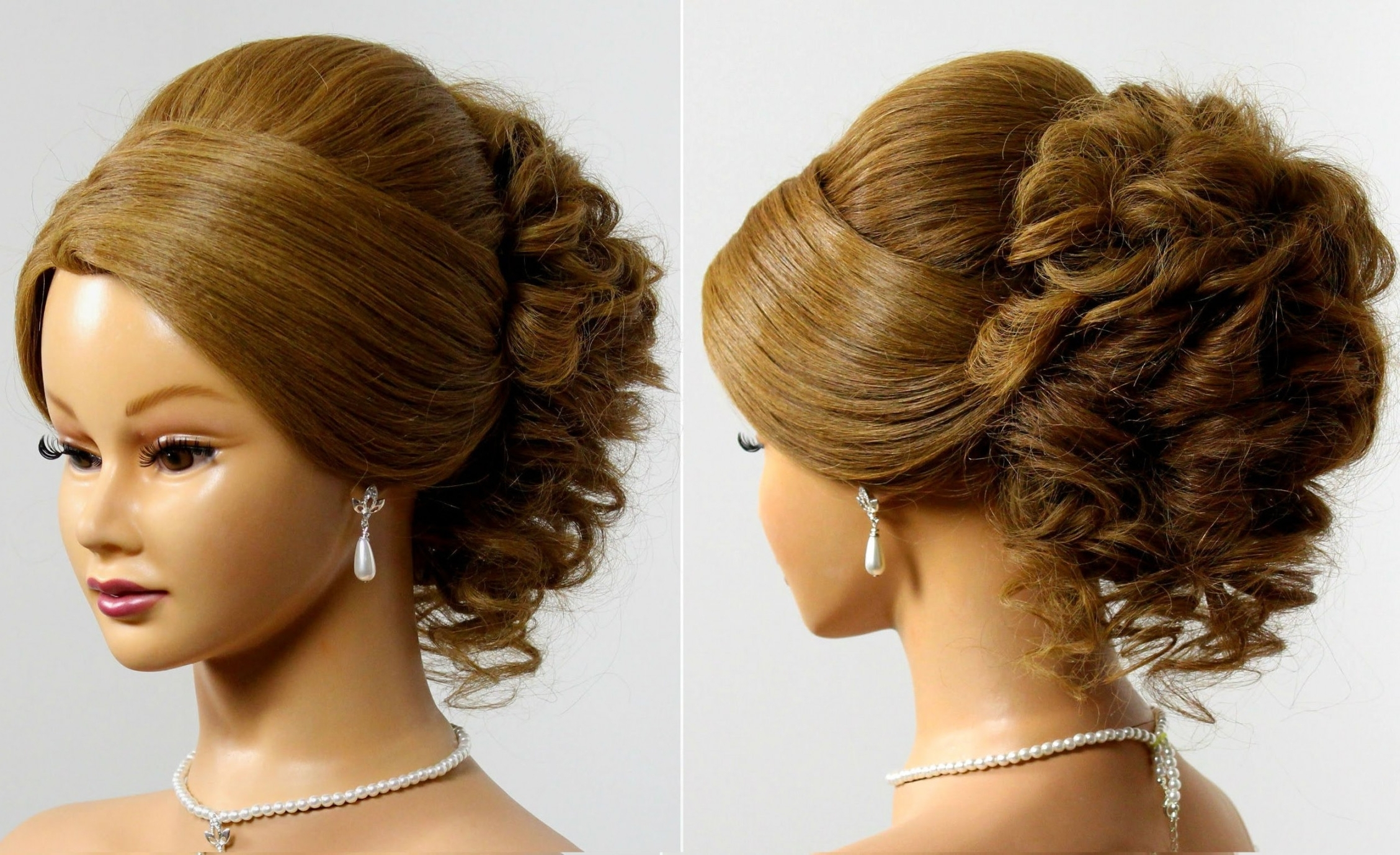 Fair Romantic Bun Hairstyle For Your 100 [ Easy Updo Hairstyles Regarding Romantic Updo Hairstyles (View 9 of 15)