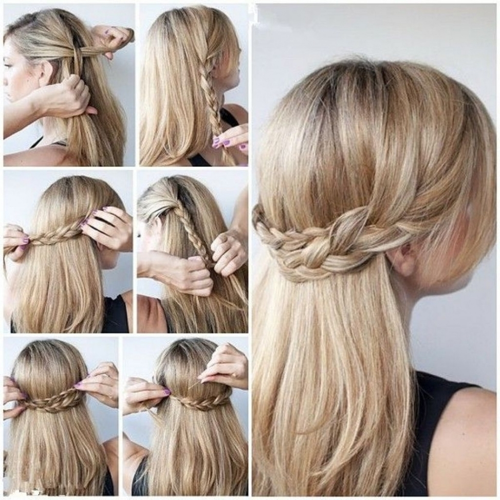 Fancy Braided Updo Hairstyle For Thick Hair Hairstyles Impressive Intended For Updo Hairstyles For Long Thick Hair (View 3 of 15)