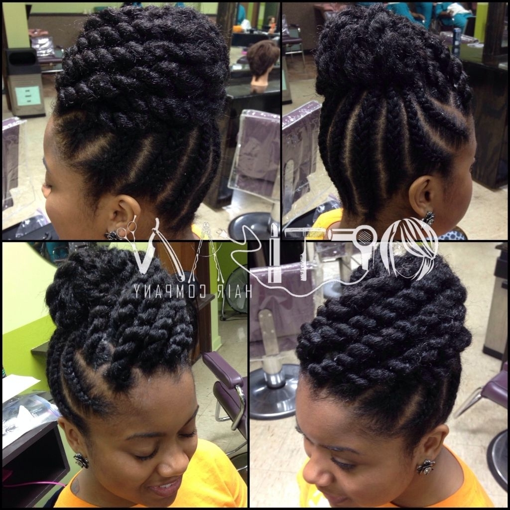 Fascinating Twist Updo Hairstyles Natural Hair About Pics Of For Inside Updo Twist Hairstyles For Natural Hair (View 5 of 15)