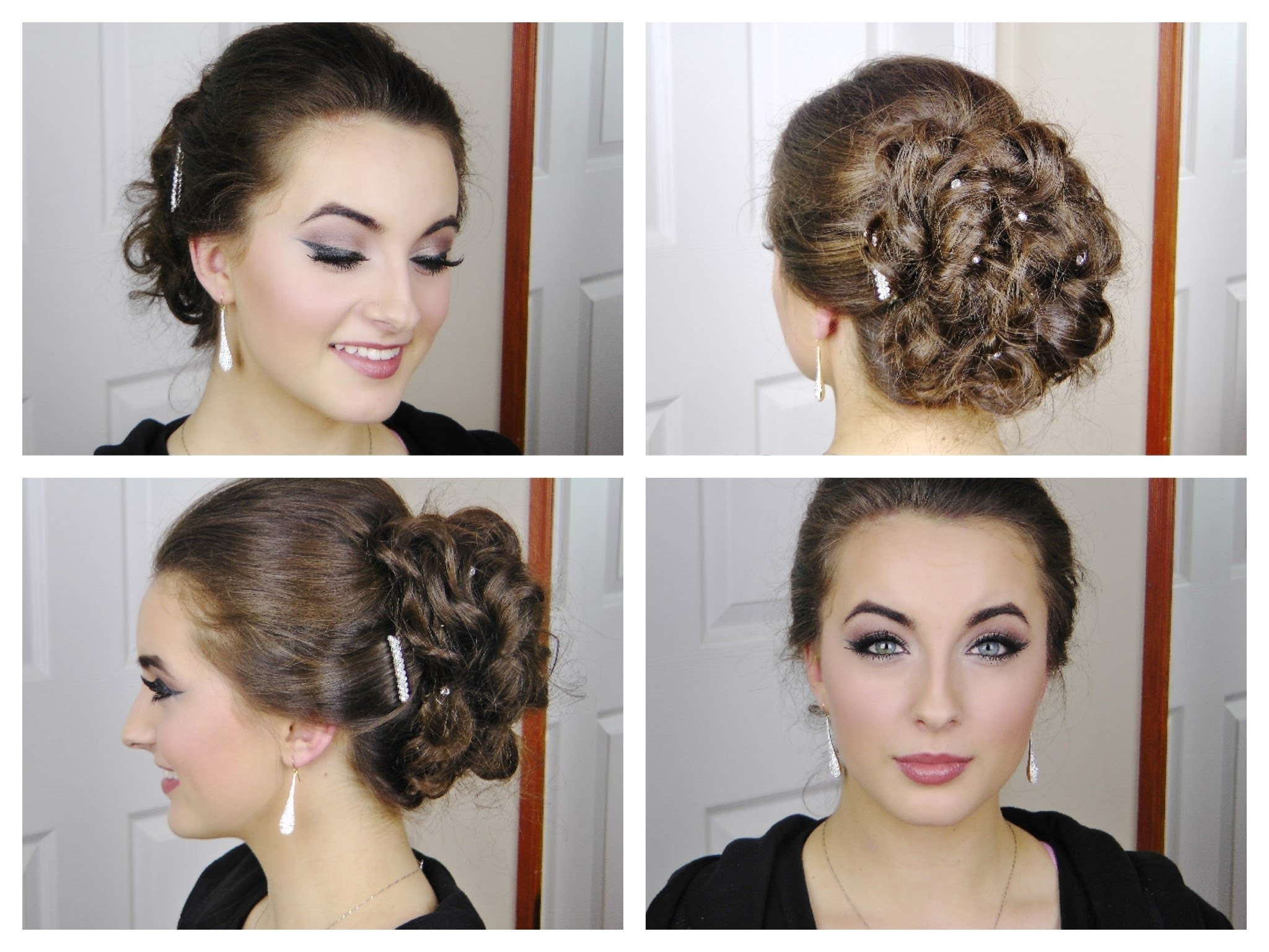 Fast And Simple Curly Elegant Updo For Prom – Youtube For Diy Updos For Curly Hair (View 7 of 15)