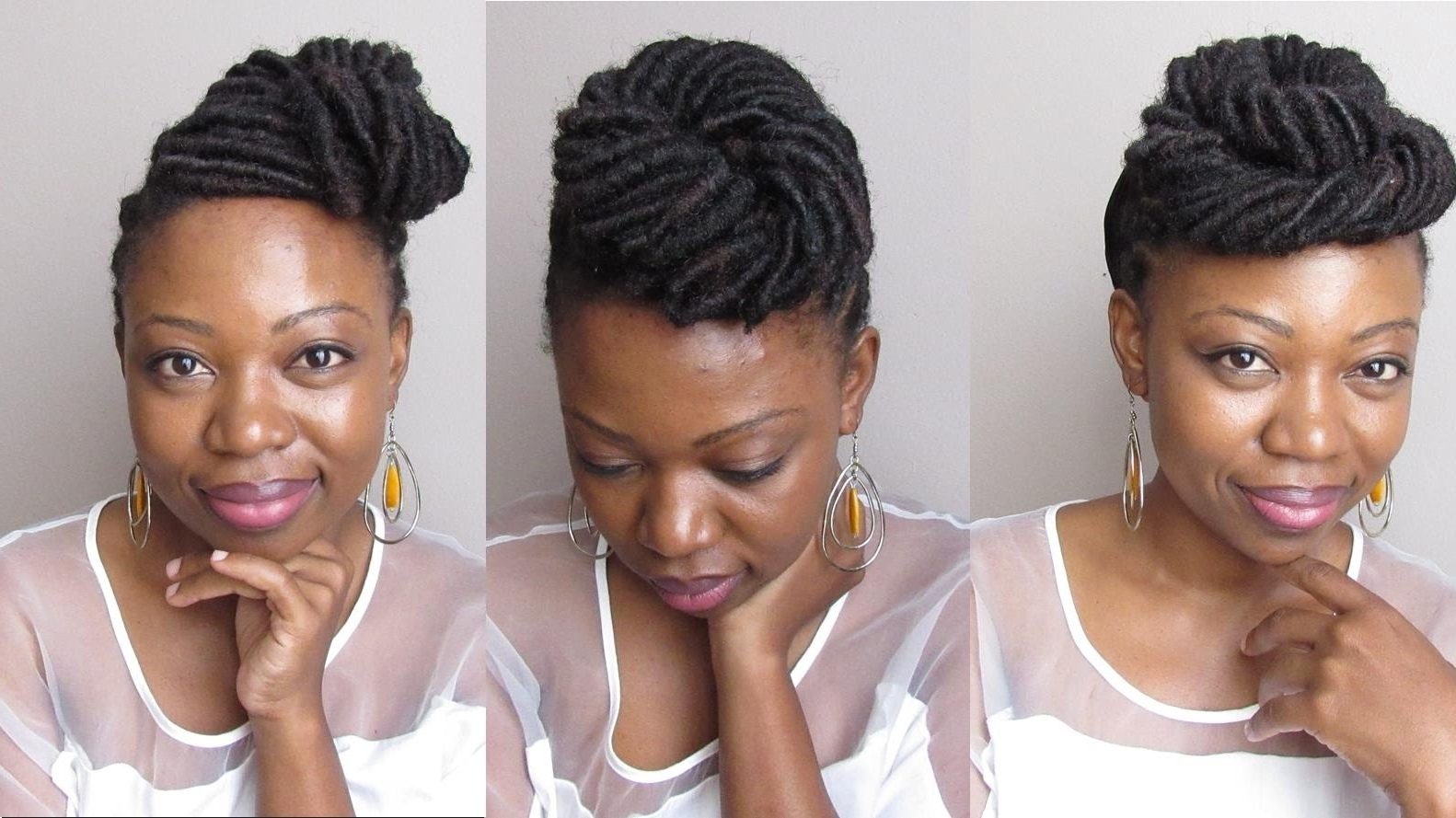 Faux Loc Styling 3 Updos – Youtube Throughout Updo Locs Hairstyles (View 6 of 15)