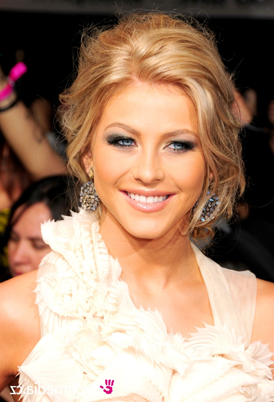 Female Celebrity Hairstyles : View Julianne Hough Formal Updo Throughout Julianne Ho Hairstylesugh Updo Hairstyles (View 13 of 15)