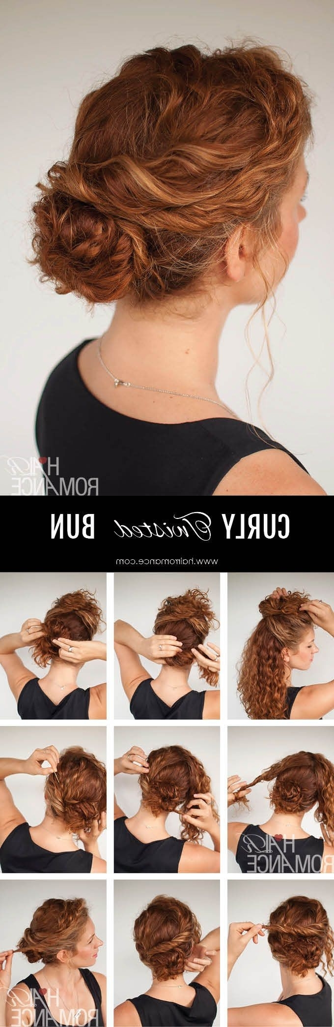 Find An Everyday Easy Updo For Faster Styling | Hair Romance Curly Regarding Easy Updos For Long Curly Hair (View 11 of 15)