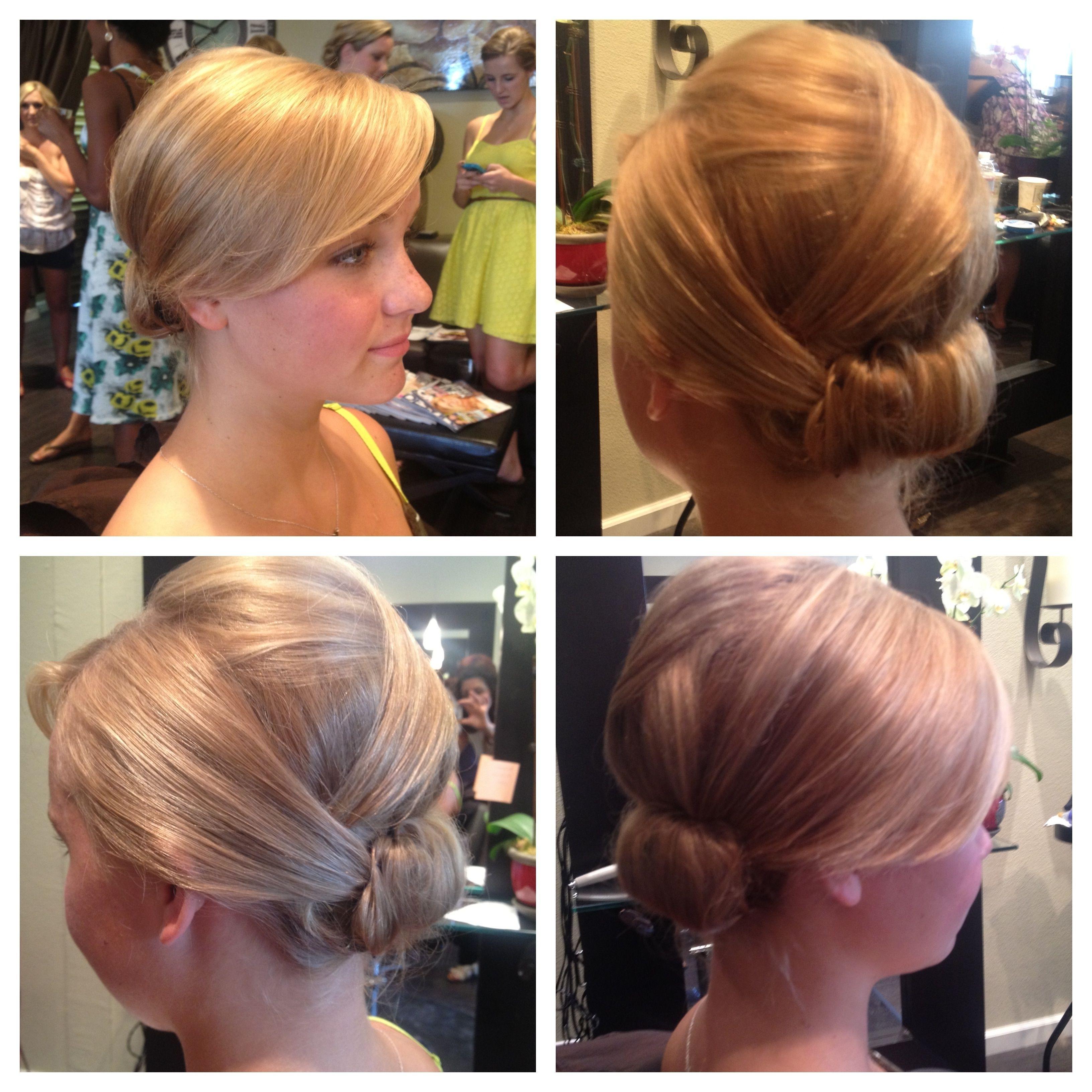 Fine Hair Updo! Bridesmaids | Wedding Hair | Pinterest | Fine Hair Intended For Updos For Thin Fine Hair (View 8 of 15)