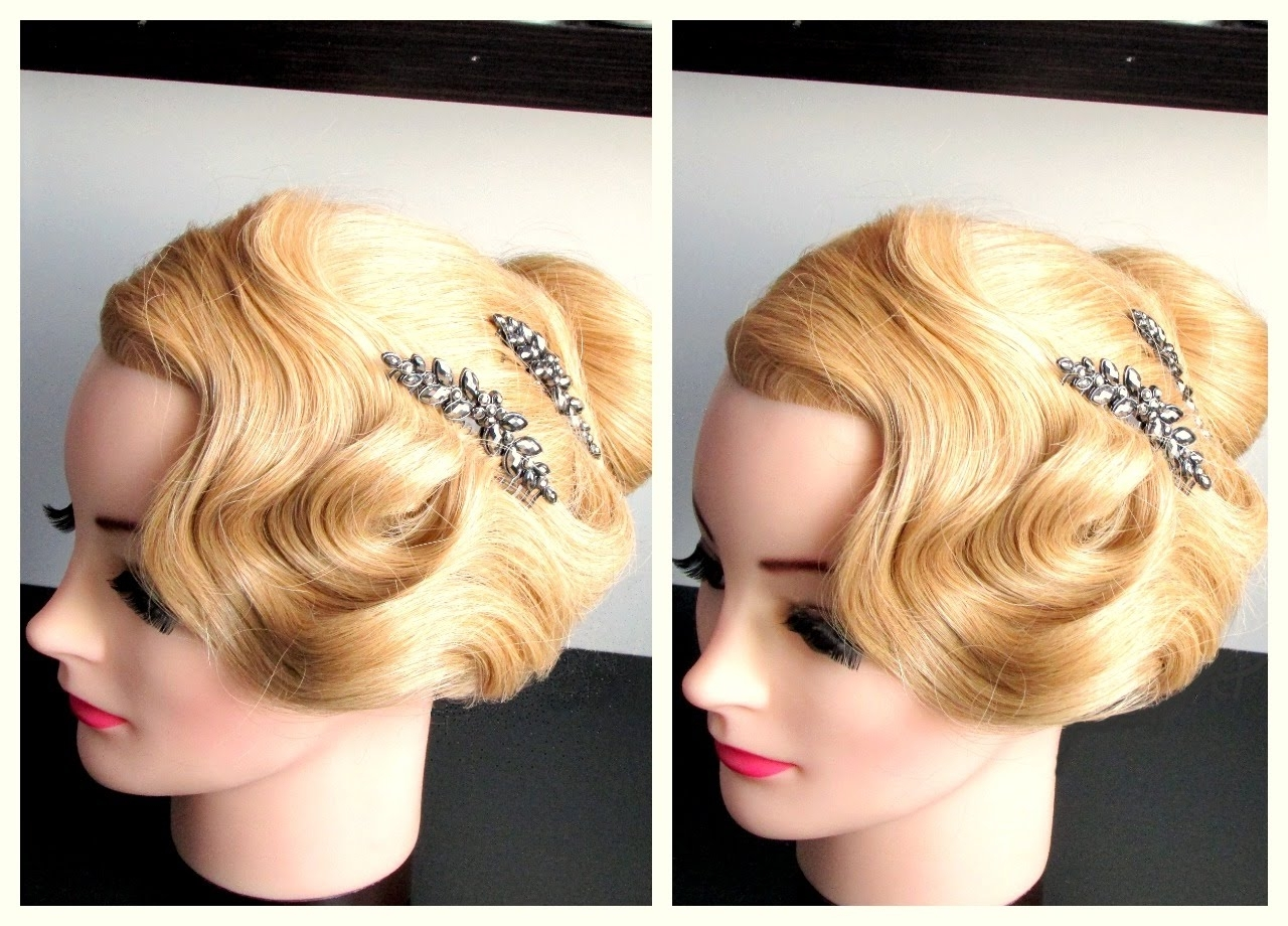 Finger Wave Inspired Hairstyle For Long,medium Hair – Youtube Pertaining To Finger Waves Long Hair Updo Hairstyles (View 2 of 15)