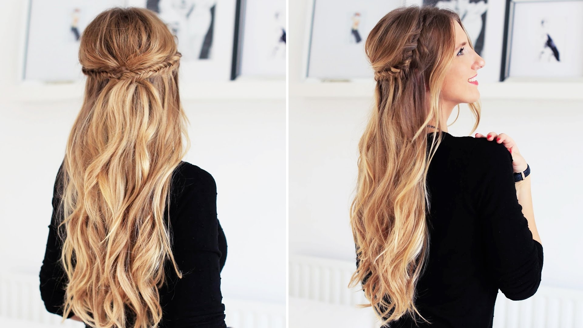 Fishtail Braid Half Updo For Short, Medium, And Long Hair | Luxy Pertaining To Luxy Updo (View 6 of 15)