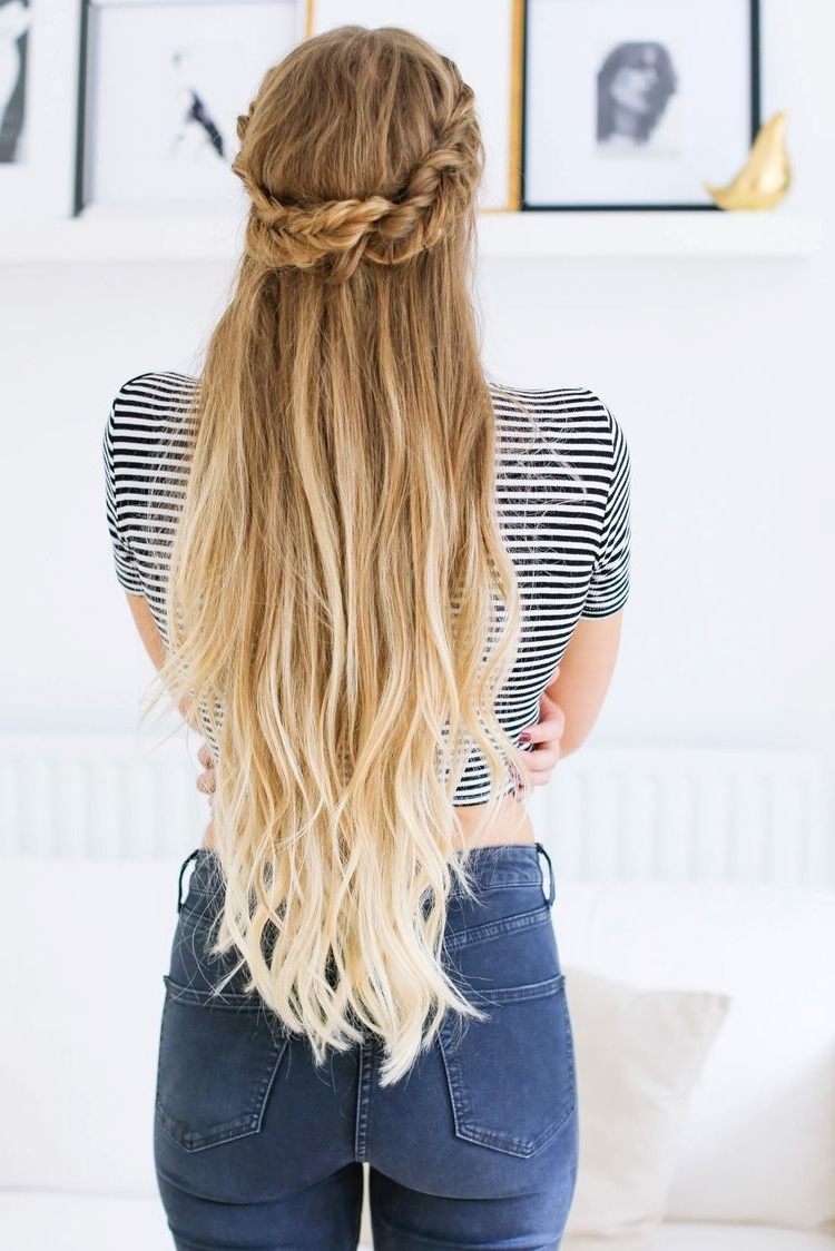 Fishtail Half Updo Hairstyle — Luxy Hair Blog – All About Hair With Regard To Luxy Updo (View 8 of 15)