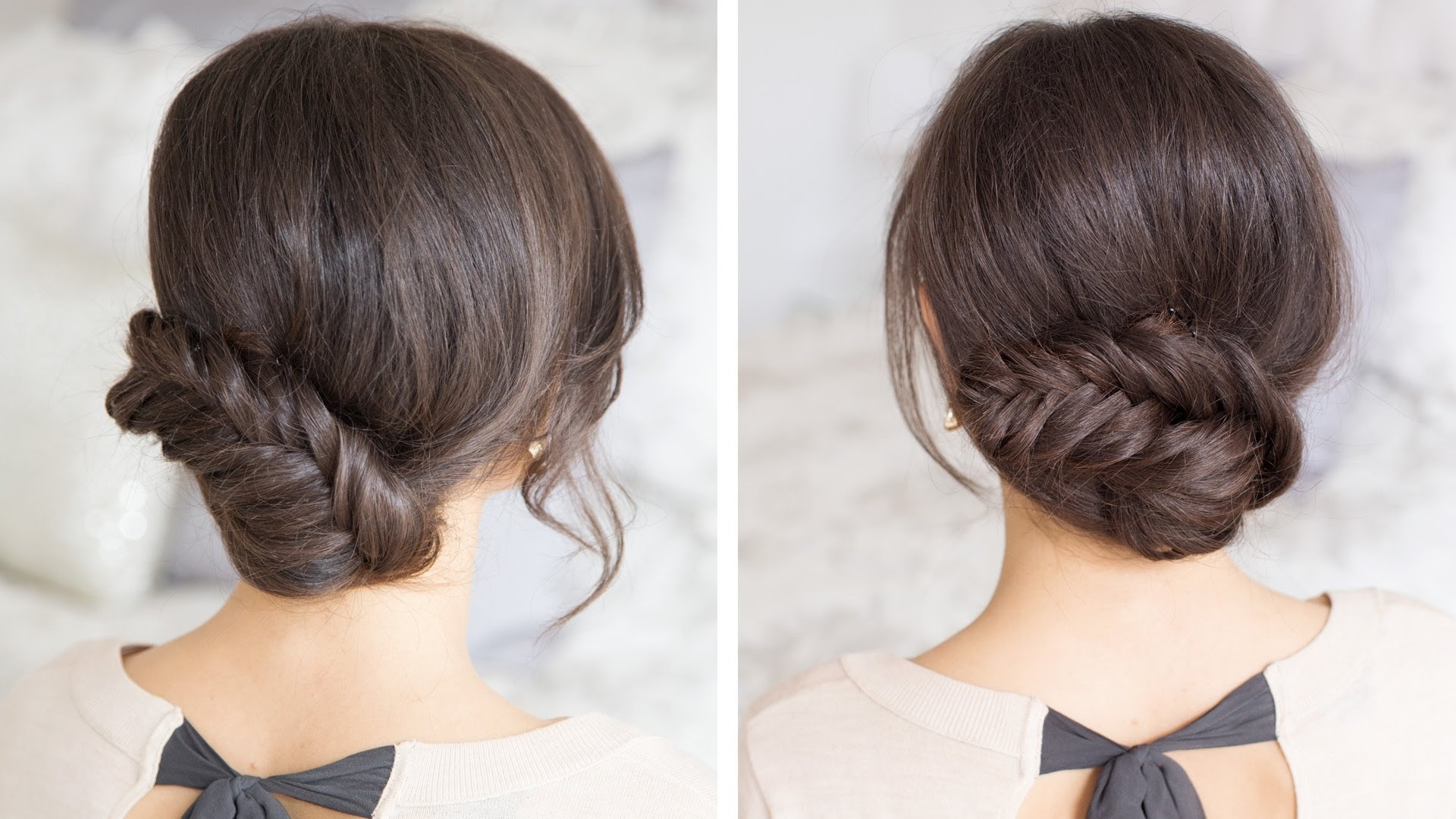 Fishtail Updo – Youtube In Luxy Updo (View 2 of 15)
