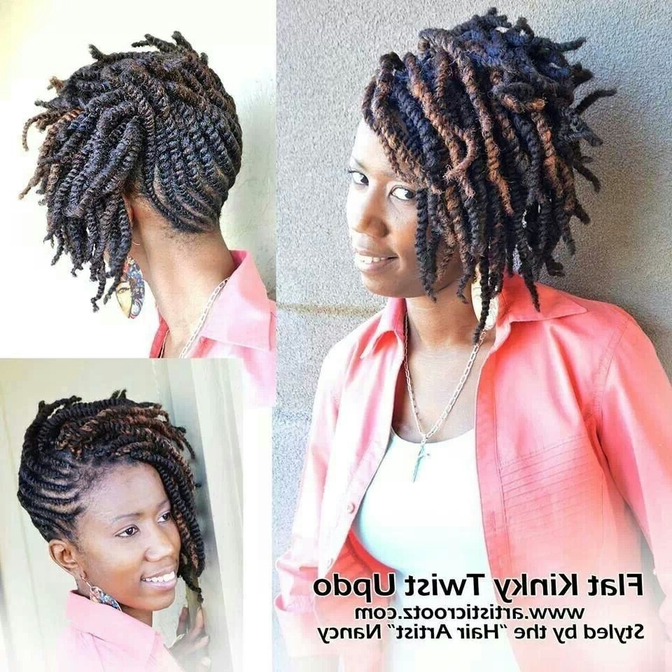 Flat Kinky Twist Updo   Hair How To's   Pinterest   Updo, Natural Regarding Braids And Twist Updo Hairstyles (View 6 of 15)