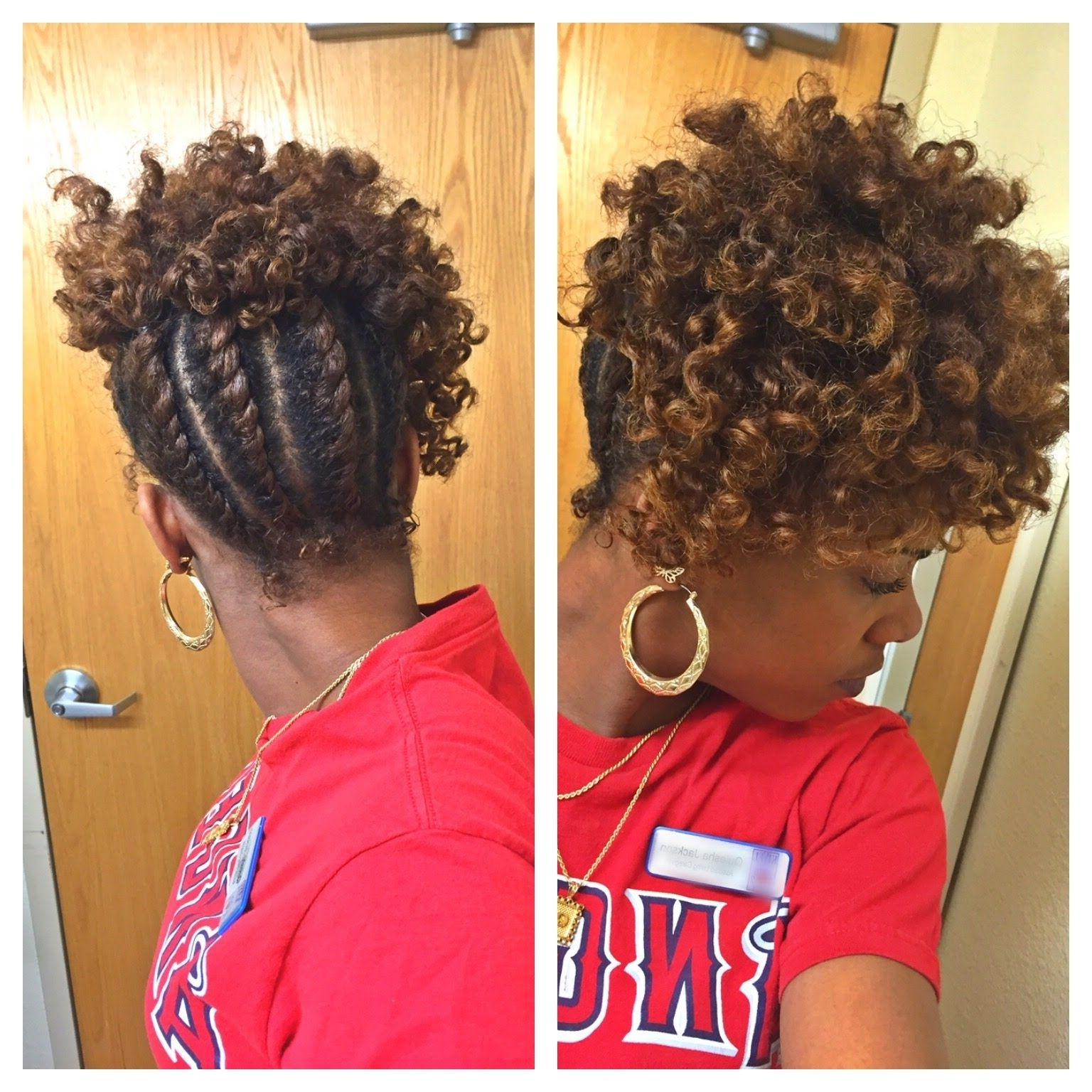 Flat Twist Updo Tutorial | Natural Hair | Hair: Natural Tutorials Throughout Updo Twist Hairstyles For Natural Hair (View 2 of 15)
