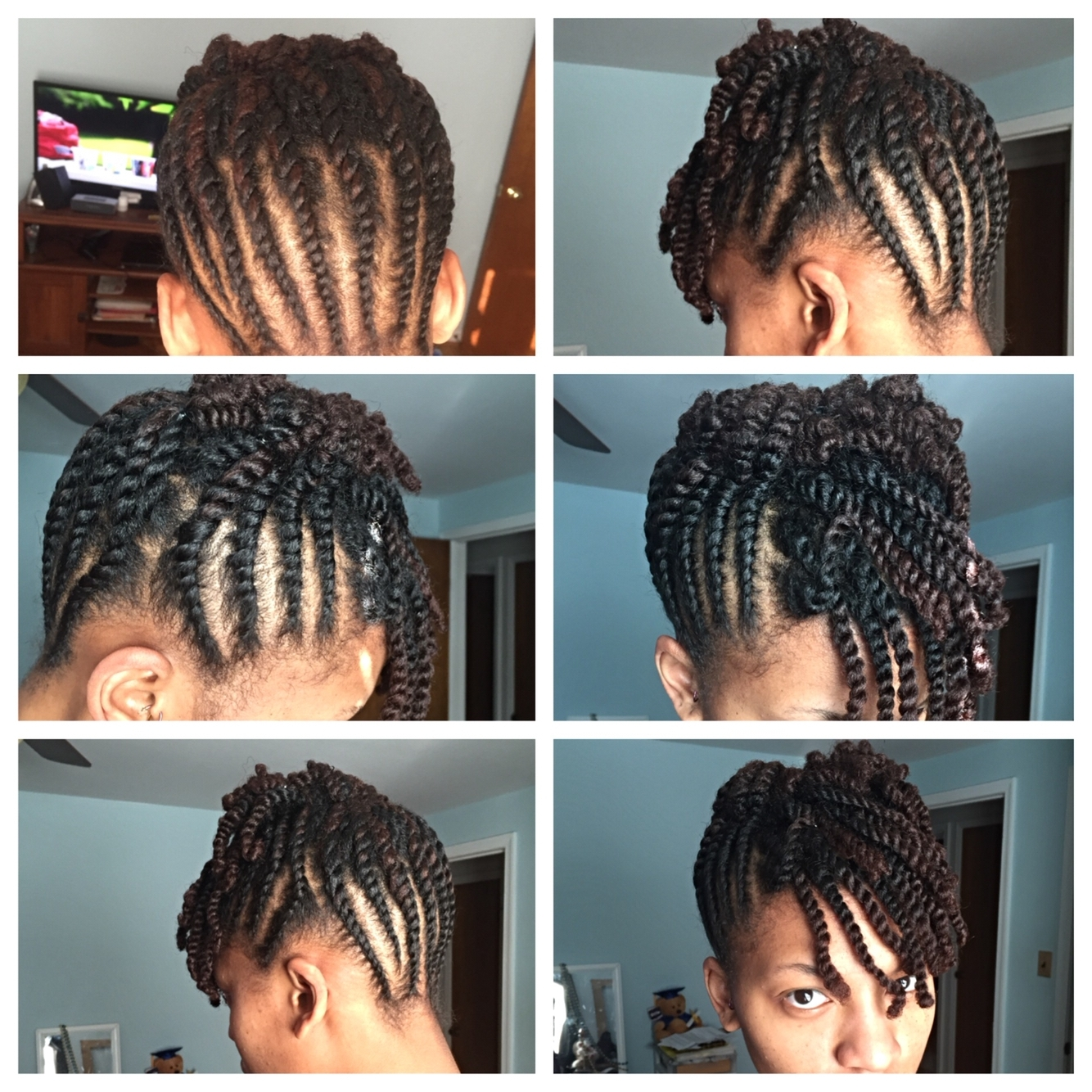 Flat Twist Updo With A Two Strand Twist Bang | Natural Hair Styles Regarding 2 Strand Twist Updo Hairstyles (View 3 of 15)