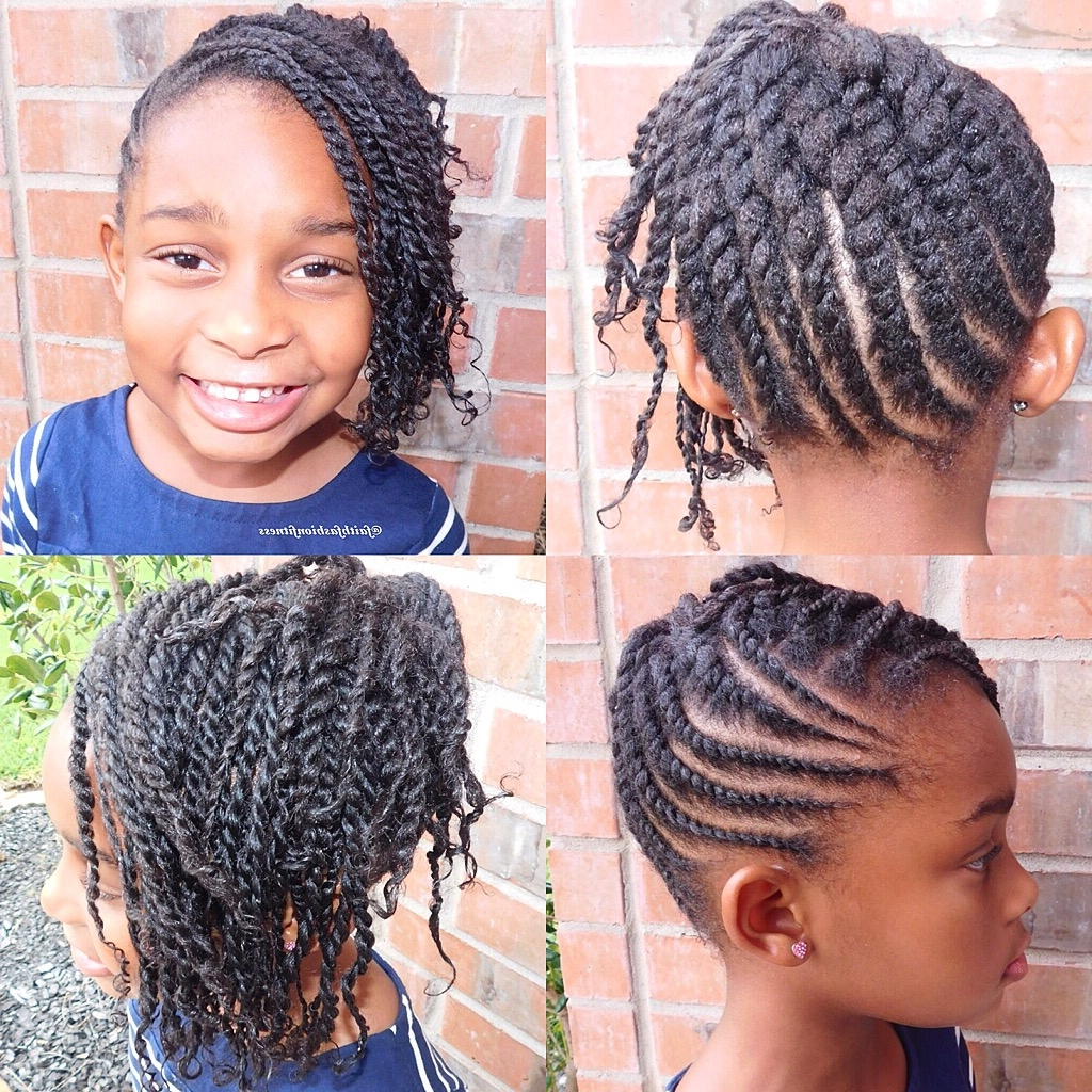 Flat Twist Updo With Side Two Strand Twist Bangs #naturalhair Intended For 2 Strand Twist Updo Hairstyles (View 4 of 15)