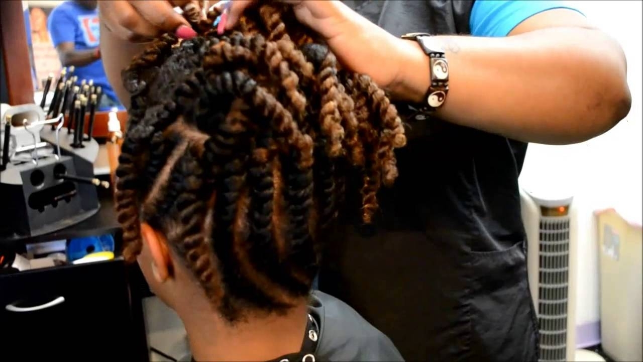 Flat Twist Updo – Youtube In Flat Twist Updo Hairstyles With Extensions (View 14 of 15)