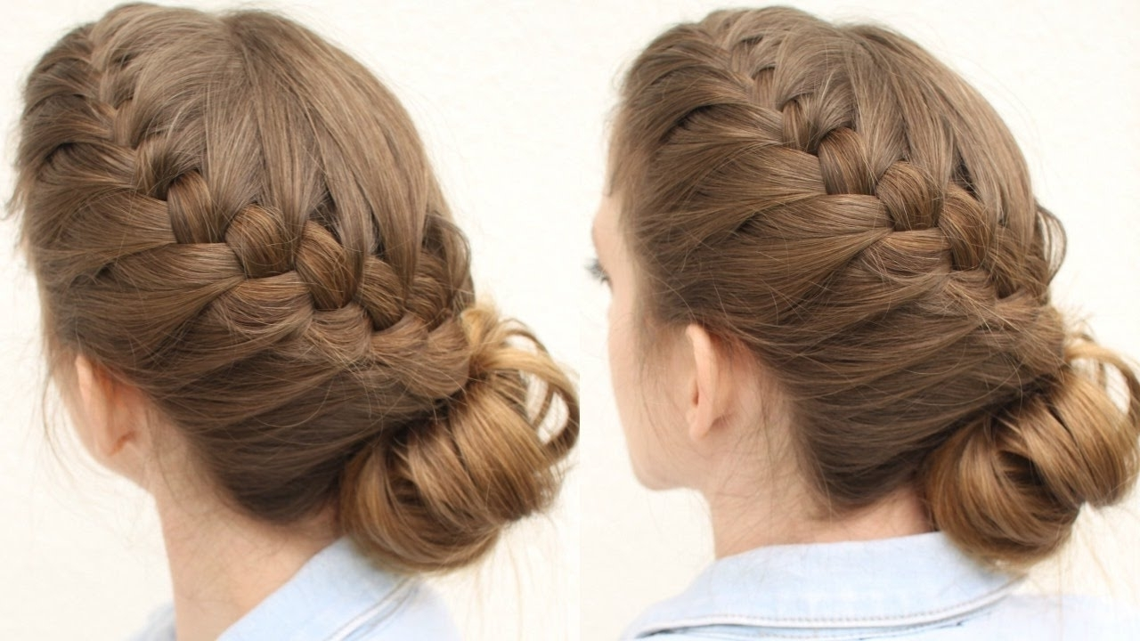 French Braid Updo Hairstyle | Updo Hairstyles | Braidsndstyles12 With Regard To Updo Hairstyles With French Braid (View 8 of 15)