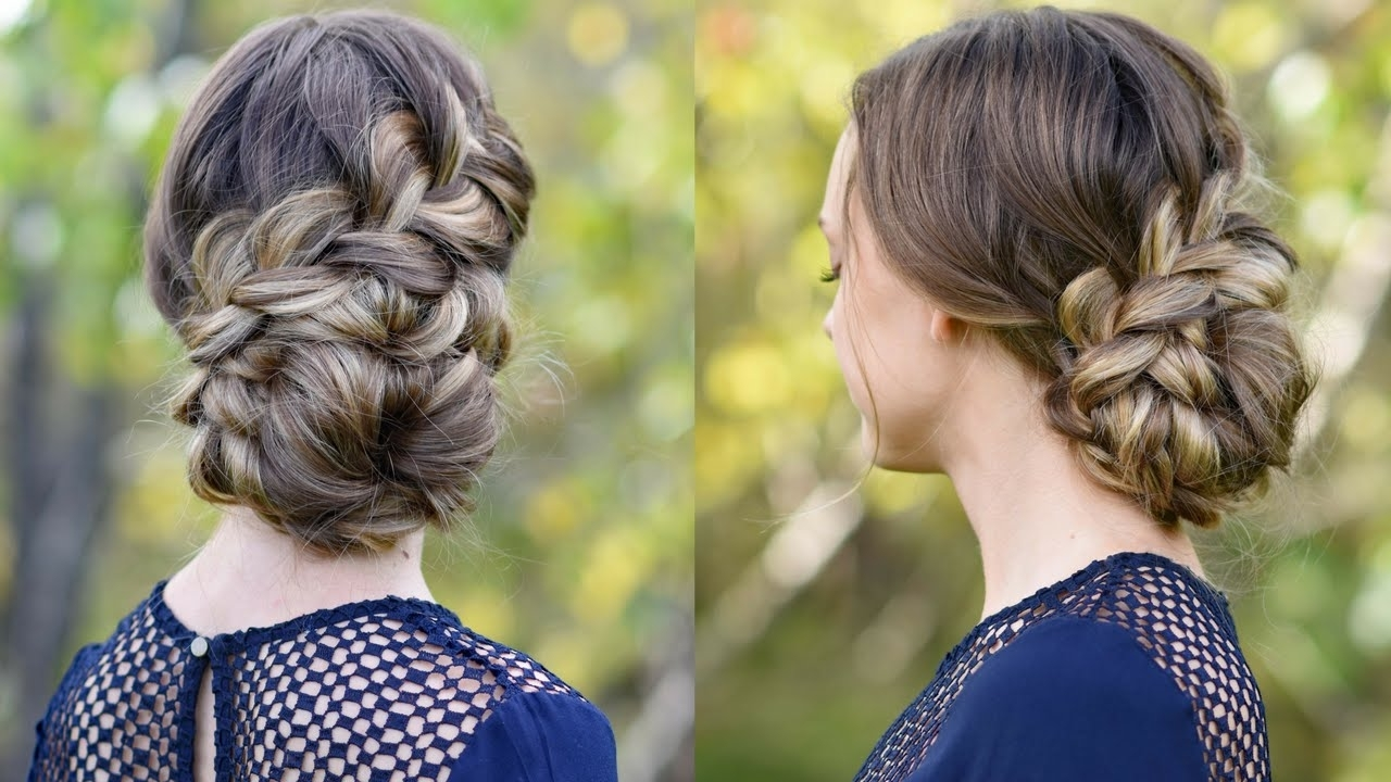 French Braid Updo | Homecoming Hairstyle | Cute Girls Hairstyles Within Cute Girls Updo Hairstyles (View 2 of 15)