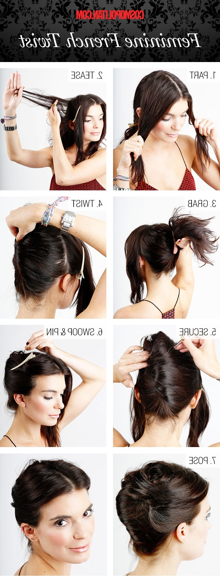 French Twist Hairstyle Within French Twist Updo Hairstyles For Medium Hair (View 10 of 15)